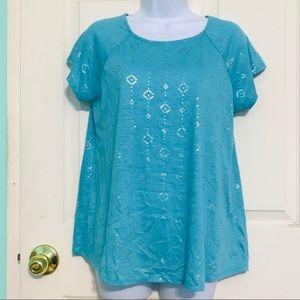 Arizona Jean Co Shirt Girls Size XXL Blue